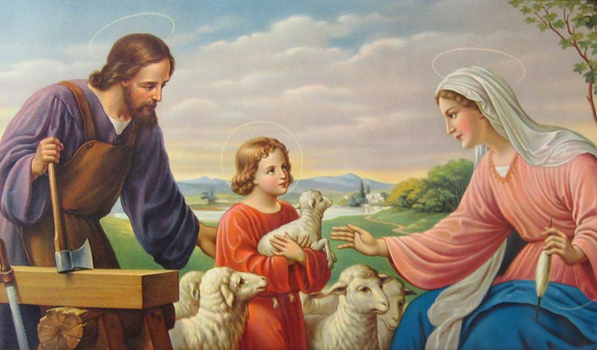 """LA SACRA FAMIGLIA DI NAZARETH; Modello sublime e ineffabile della verità e santità della """"FAMIGLIA"""", secondo il meraviglioso ordine naturale disegnato dall'AMORE di Dio."""