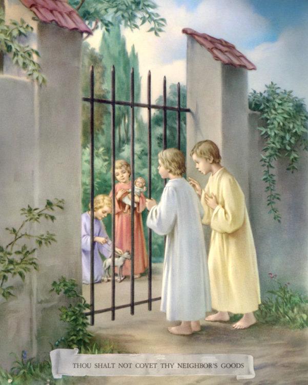 """CATECHISMO DELLA DOTTRINA CRISTIANA; Parte terza; CAPO III; 6. Del decimo comandamento: """"Non desiderare la roba d'altri"""""""