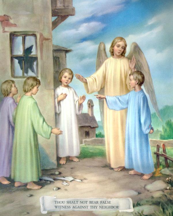 """CATECHISMO DELLA DOTTRINA CRISTIANA; Parte terza; CAPO III; 5. Dell'ottavo comandamento: """"Non dire falsa testimonianza"""""""