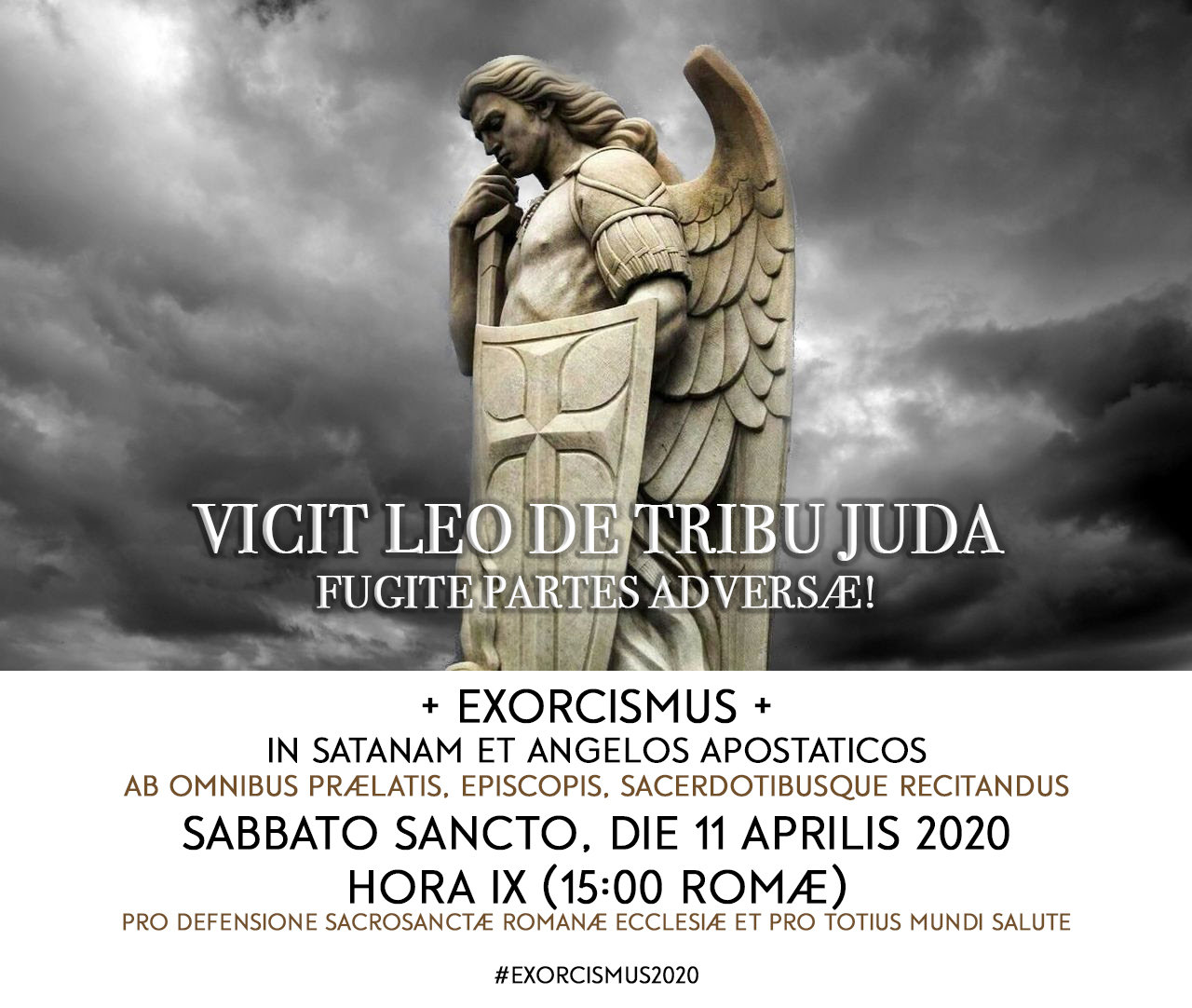 ESORCISMO contro Satana e Preghiera di Liberazione; insieme questo Sabato Santo
